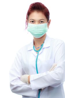 Female Doctor And Mask Royalty Free Stock Photo