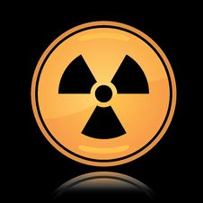 Free Yellow Round Icon Radiation Sign Stock Image - 18853921