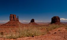 Free Monument Valley Navajo Indian Tribal Park Panorama Royalty Free Stock Image - 18854066