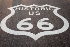 Free Route 66 Sign Royalty Free Stock Photo - 18854185