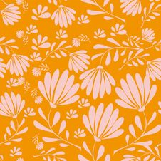 Free Abstract Pattern With Leaves Royalty Free Stock Photos - 18854808