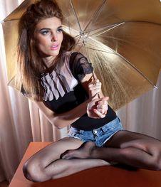 Free Under Umbrella Royalty Free Stock Image - 18854936
