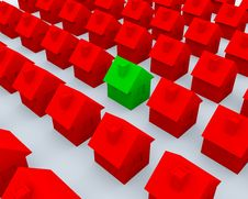 Free Red And Green 3d Houses Stock Photos - 18855343