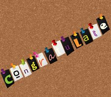 Free Congratulate Notice Concept Stock Image - 18855531