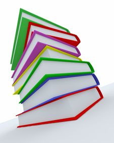 Free Stack Of Coloured Books Stock Photography - 18855872