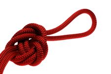 Free Apocryphal Knot On Double Red Rope Royalty Free Stock Photography - 18856007