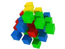 Free Colored Puzzle Cube Royalty Free Stock Photo - 18856495