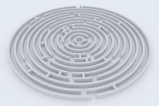 Free Round Maze Royalty Free Stock Images - 18856499