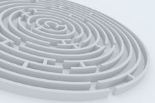 Free Round Maze Royalty Free Stock Photography - 18856507