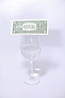 Free Dollar And Wine Glass Royalty Free Stock Images - 18856649