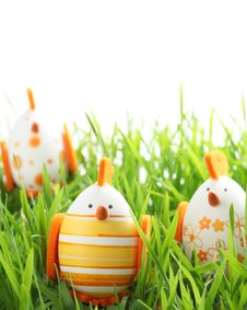 Free Easter Chicken Royalty Free Stock Photo - 18856845