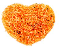 Free Heart Shape Thai Style Crisp Fried Rice Noodle Royalty Free Stock Photos - 18857268