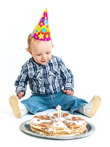 Free First Birthday. Stock Images - 18857714