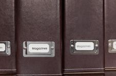 Free Brown Leather Magazine Holders Stock Images - 18858134