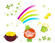 Irish And St. Patrick S Day Icons Stock Photography