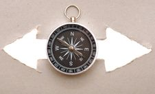 Free Compass And The Index Of Directions Stock Photography - 18858892