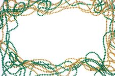 Free Green And Gold Bead Frame Stock Images - 18859134