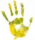 Free Handprint. White Background Stock Images - 18862614