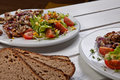 Free Salad With Steak Royalty Free Stock Photography - 18866777