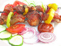 Free Grilled Barbecue Meat With Vegetables Stock Images - 18869744