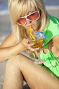 Free Girl With Martini Glass Stock Photography - 18869832