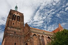 Free Brick Gothic Church Royalty Free Stock Image - 18861006