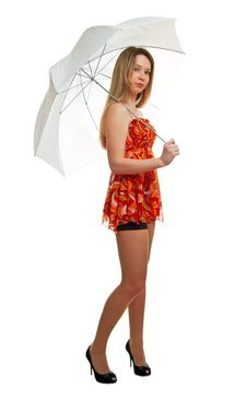 Free Girl With A Umbrella Stock Photos - 18861113