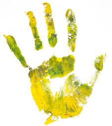 Free Handprint. White Background Stock Images - 18862614