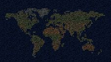 Free Colorful Binary World Map Stock Images - 18862654