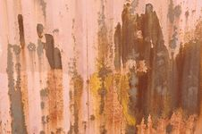 Free Iron Rust Wall Royalty Free Stock Photos - 18862668