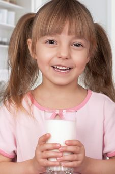 Free Girl With Milk Stock Photo - 18863570