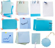 Free Blue Tags And Notes Royalty Free Stock Photos - 18863878
