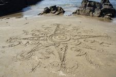 Free Drawing On The Sand Royalty Free Stock Image - 18864496