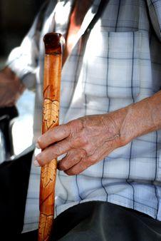 Free Senior Hand On Cane Royalty Free Stock Photo - 18864505