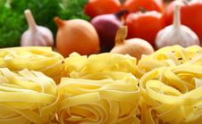 Pasta And Fresh Vegetables. Royalty Free Stock Images