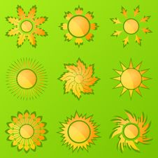 Free Sun Icons2 Royalty Free Stock Images - 18865339