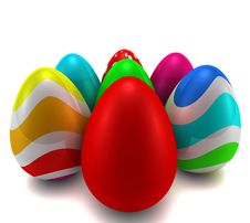 Free Easter Eggs Stock Photography - 18865412