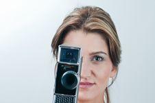 Free Camera Girl Royalty Free Stock Photography - 18865497