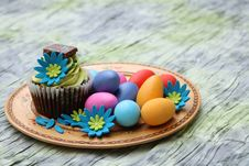 Free Easter Egg Cupcake Stock Photos - 18867333