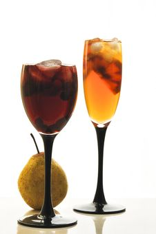 Free Fruit Cocktail In Glass Glasses Royalty Free Stock Photography - 18867607