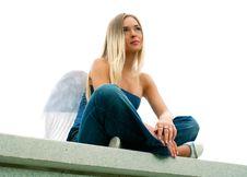 Free Sad Lovely Angel Royalty Free Stock Photo - 18868035
