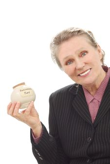 Free Woman With Retirement Fund Royalty Free Stock Images - 18868649