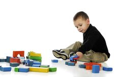 Playing With Lots Of Pieces Royalty Free Stock Photos
