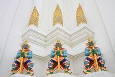 Free Giant Guardians On Base Of Pagoda, Thailand Stock Image - 18868861