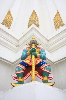 Free Giant Guardians On Base Of Pagoda, Thailand Royalty Free Stock Photo - 18868865