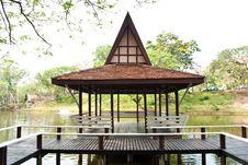 Free Wood Thai Pavilion. Stock Photography - 18869222
