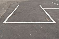 Free Car Park Line On The Road. Stock Photography - 18869282