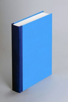 Free Plain, Blue Standing Book For Design Layout Stock Photo - 18869410