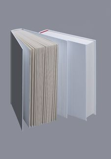 Free Two White Plain Books For Design Layout Stock Photo - 18869600
