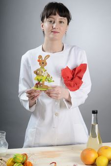 Free Chef Showing Easter Bunny Stock Images - 18869614